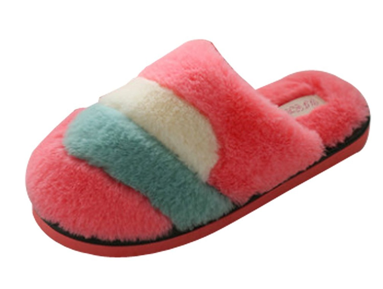 7cf11d7547f Get Quotations · Cattior Womens Fleece Warm Ladies Slippers Fluffy Slippers