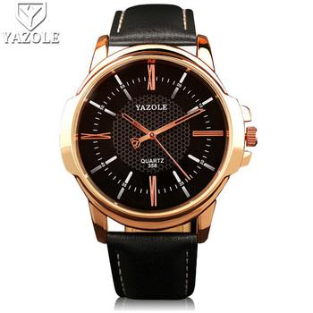 4a25b3dedbb8 Yazole Oro Rosa Reloj De Cuarzo De Los Hombres 2017 Superior De La Marca De  Lujo De Famoso Hombre Reloj De Pulsera Reloj De Oro De Estilo Reloj De ...