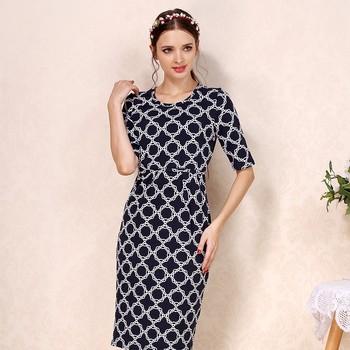 2ff2619f6 Verano vestido de maternidad ropa de lactancia con cuello redondo de faldas