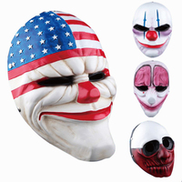 Minch Clown Masks for Masquerade Party Scary Clowns Mask Payday 2 Halloween Horrible PVC Mask