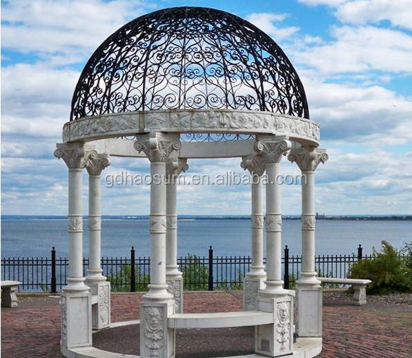 clsico de hierro forjado dome para jardn al aire libre prgolas