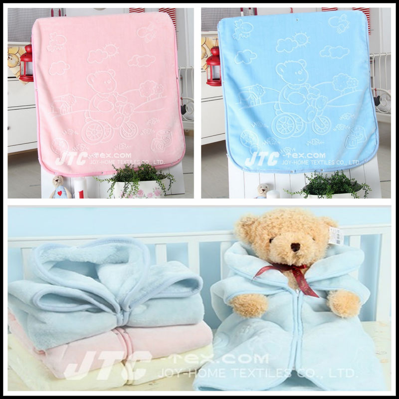 2427bce4ee31 Made in Korean Solid Color 100% Polyester Embossed Baby Blanket Whole Sale