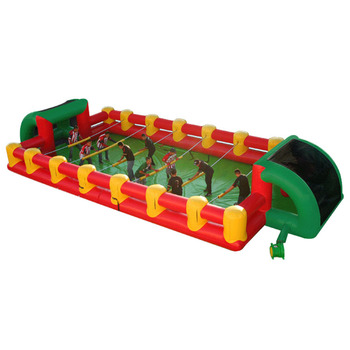 Inflatbale human football table / human foosball game inflatable/ foosball inflatable table game