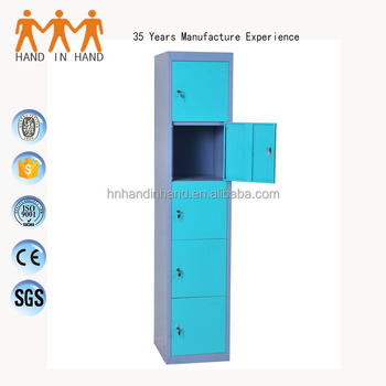 Home sports steel 5 compartments lockers with CKD package