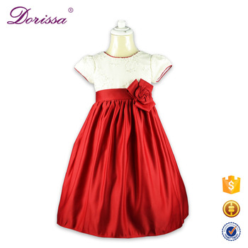 7f0165c48452 Nice Fabric Embroidery Red Korean Kids Dress Manufacturer Baby Birthday  Party Dresses Children Clothes Girl Dress