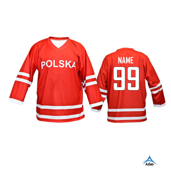 promotional customized youth international ice hockey jersey