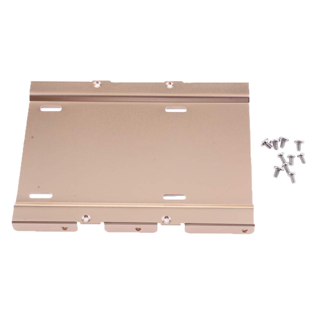 "MagiDeal 2.5"" to 3.5"" Bay SSD Notebook Hard Disk Drive Mounting Bracket Tray Kit Gold"