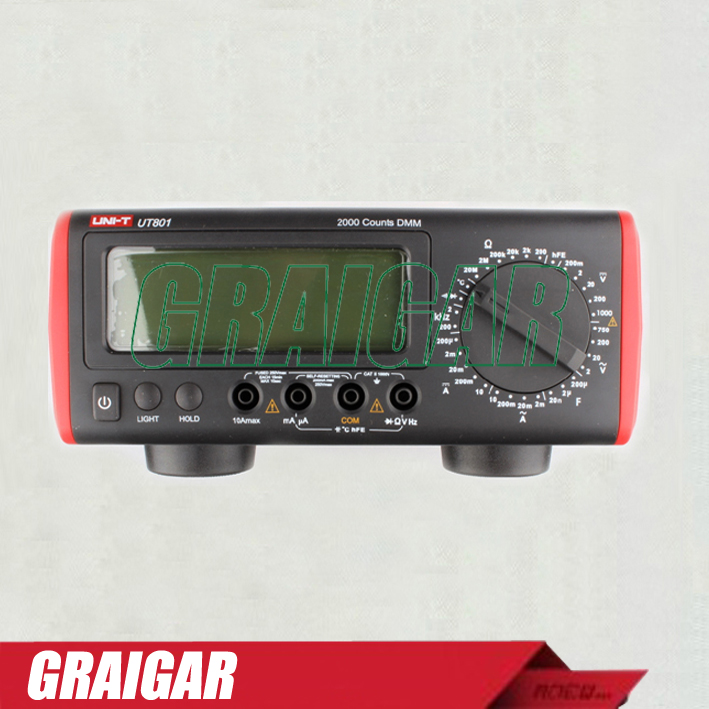 Bench Type Digital Multimeters UNI-T UT801 automatic range True Valid Values average value display
