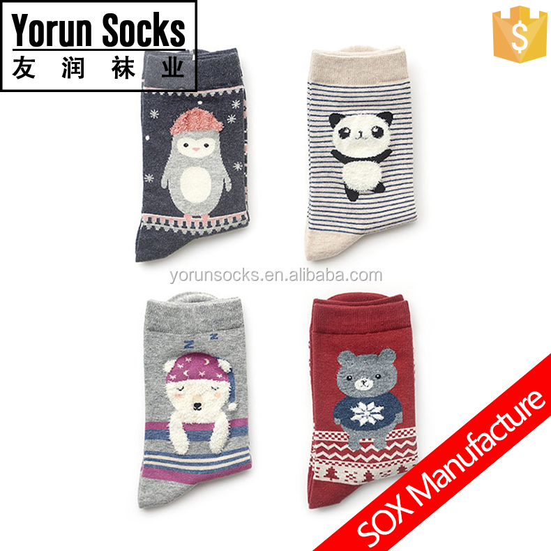 3D logo Jacquard animal Socks carton socks gift socks