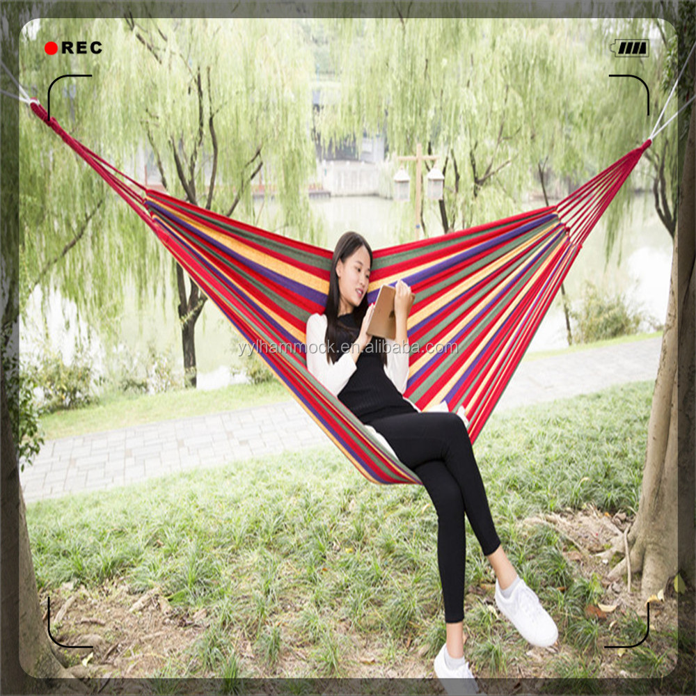 sleep bed store persons double indoor sleeping travel outdoor camping hammock color swing tree garden rainbow product
