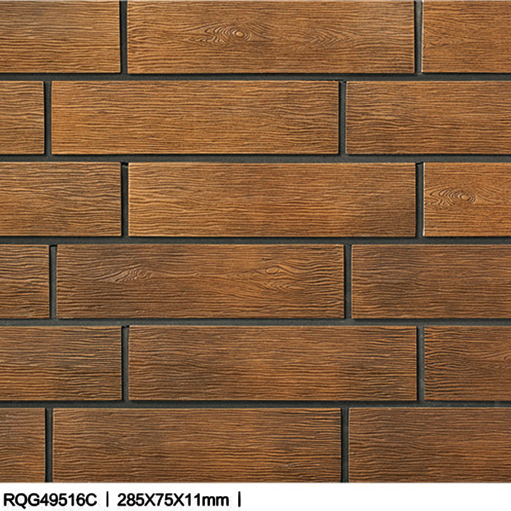 foshan wooden ceramic tile decorative background wooden stone wall