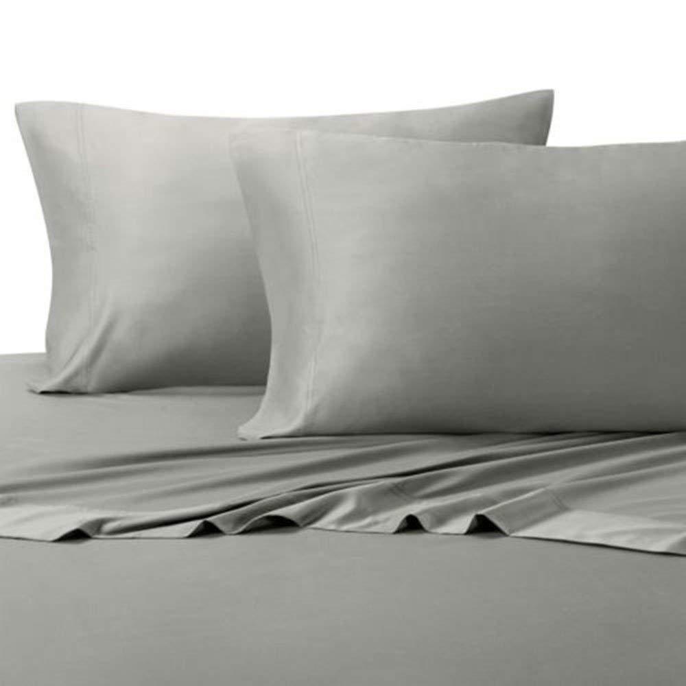 Bamboo Sheets King - 100% Rayon Made from Bamboo Sheet Set - Ultra Soft 4 Piece Bamboo Bed Sheets (Grey)