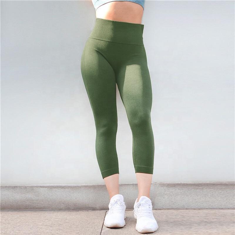 59bda1ab6aa0db High Waist Workout Leggings Fitness Sexy Girls Capri Pants Yoga Leggings  Wholesale Gym Apparel