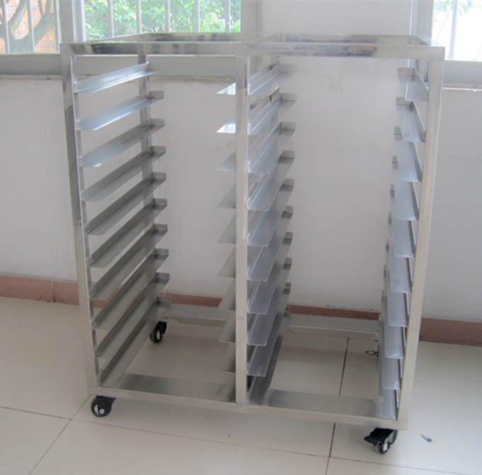 10 Trays 20 Pans Stainless Steel Trolley Bakery Bread Rack