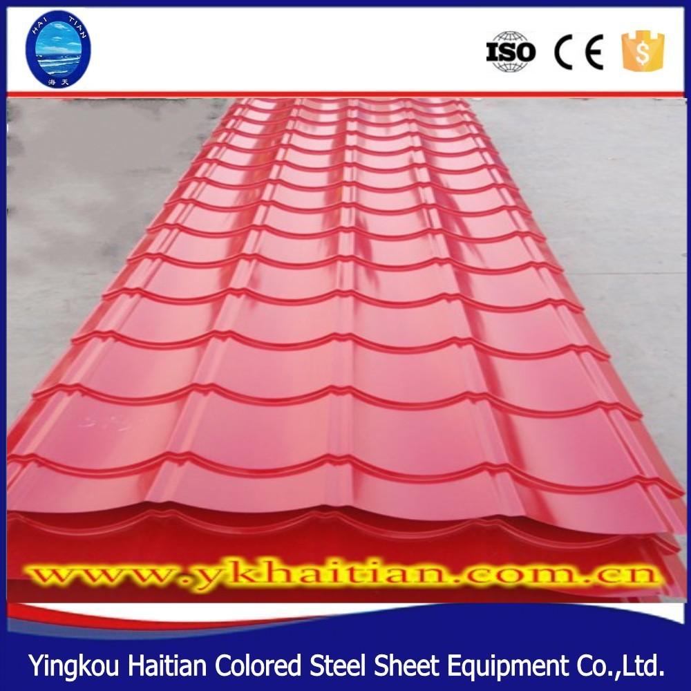 usine prix tuile pr laqu acier galvanis t le de toiture bardeaux de toiture de couleur pas. Black Bedroom Furniture Sets. Home Design Ideas