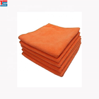 cheap orange microfiber cleaning cloth