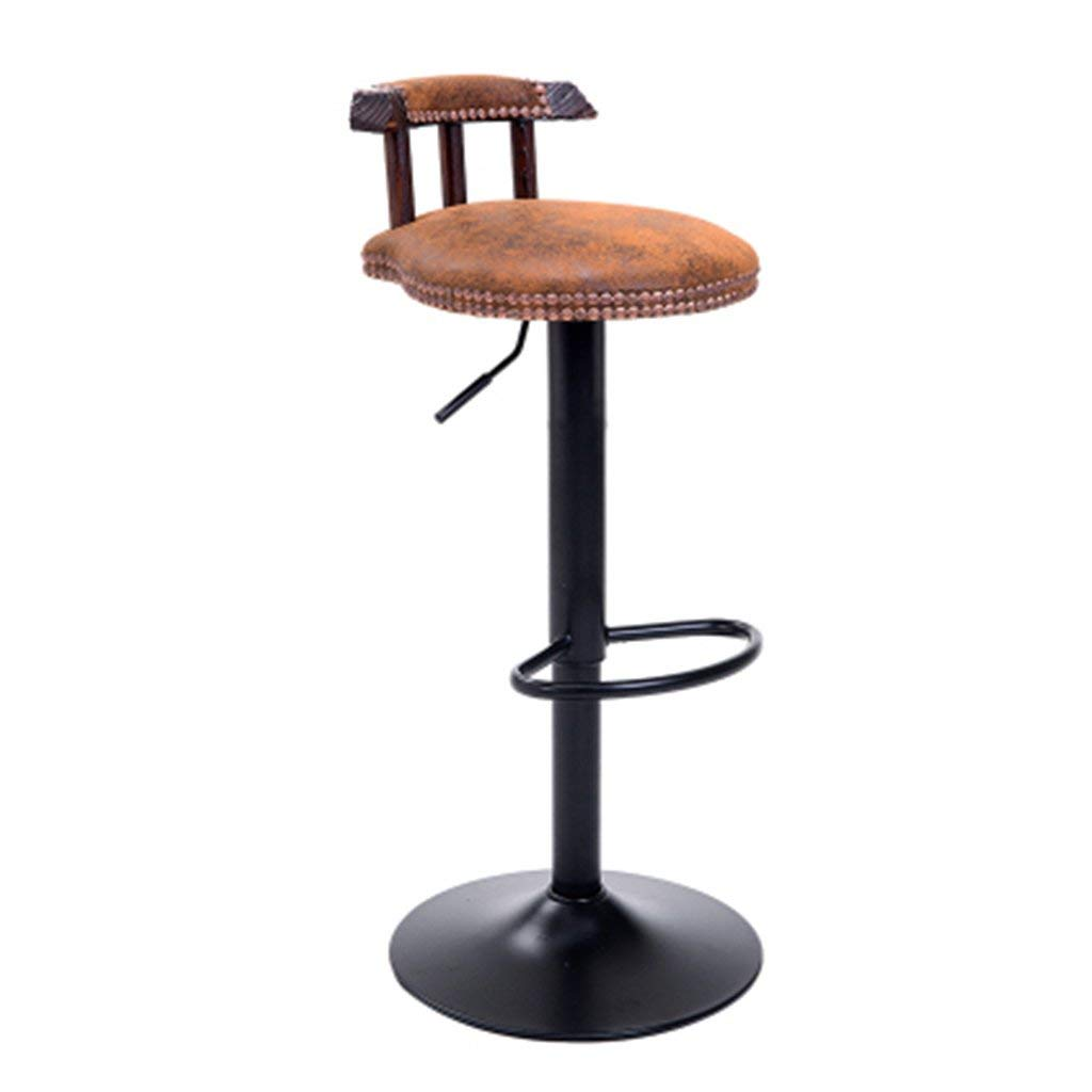 Office stools Lifting home stools Breakfast stools High stools Bar stools Bar stools 306° swivel stools Adjustable height (Color : B. Gold 2, Size : 321570cm)