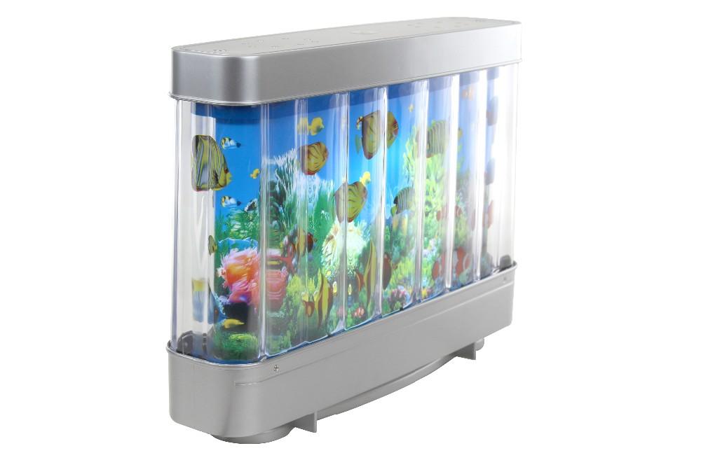 Battery powered fake fish aquarium led lighting for home for Fake artificial aquarium fish tank