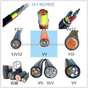 Low Medium Voltage Type Underground Electrical Power Cable XLPE PVC Insulated Armoured Copper