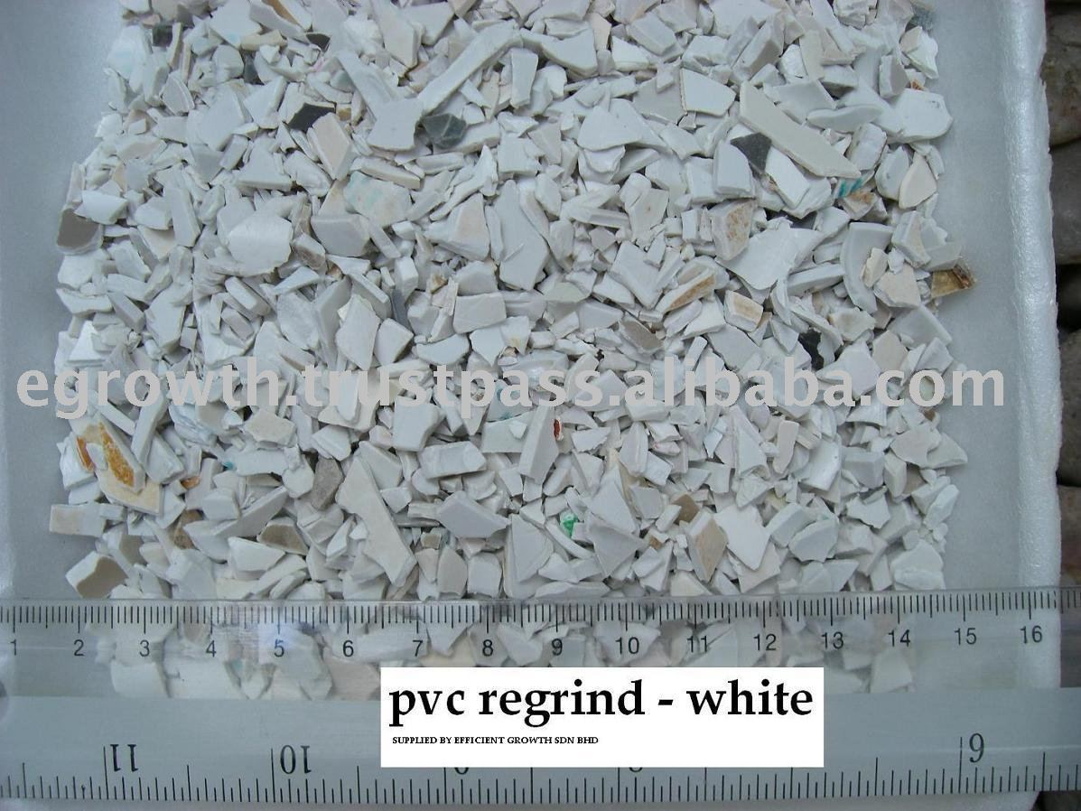 PVC Regrind white