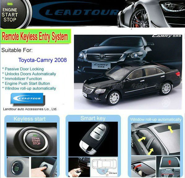 Passive Keyless Entry System Push Button Remote Start Rfid Car ...