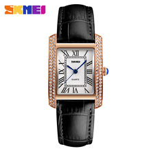 Relojes de mujer women's bracelet watch crystal luxury brand skmei 1281 square watches ladies