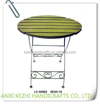 Tavolo Giardino Ferro Pieghevole.Lc 84982 Amichevole Europeo Giardino Anquite Tavolino In Ferro