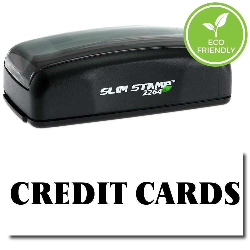 Large Pre-Inked Credit Cards Stamp (Black Ink)
