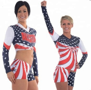 eb2faf90d8e1a2 2018 High quality wholesale cheer uniforms sublimation cheerleading crop top