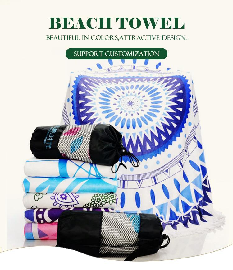 Custom design mikrofaser runde strand handtuch/brasilien strand handtuch china produkte mit Logo