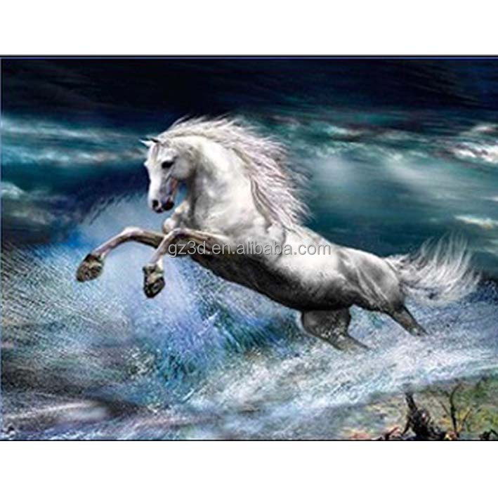 Sample Free Carton 3d Picture Horse Running With Water For Home ...