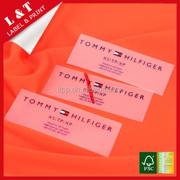 sportwear heat transfer neck care label, chest label, underwear heat transfer waist label