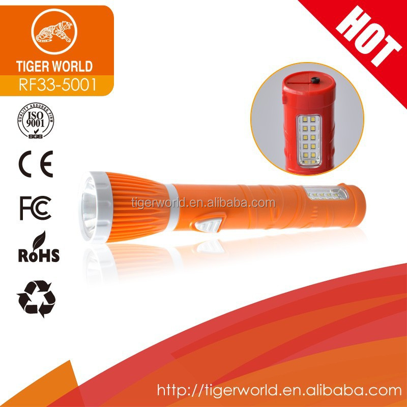 2015 brand new chinese led emergency green rechargeable flashlight torch for outdoor