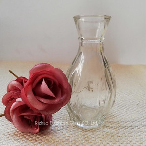 Fulaishan clear small glass vase centrepiece