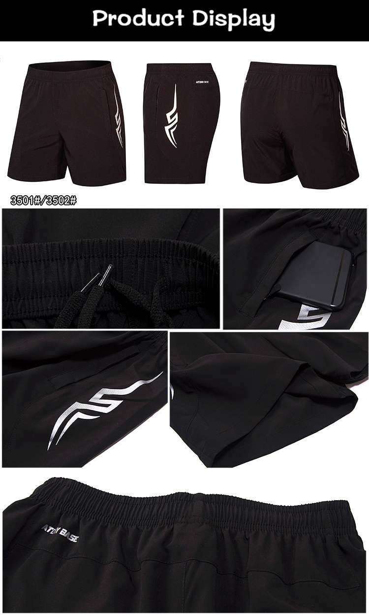 Wholesale Custom Logo Polyester Mens Sports Gym Sweat Shorts Custom Mesh Workout Shorts