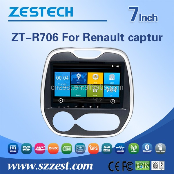 ZESTECH 7'' WIN CE 6.0 Car DVD Player For Renault Captur car audio system car dvd with Steering wheel control Bluetooth 3G Wifi