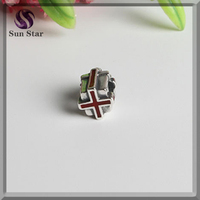 2016 Fashion enamel ribbon charm jewelry cheap charm for bracelet cheap bead wholesale