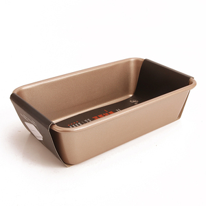 2L non-stick carbon steel bakeware champagne gold Bread loaf pan