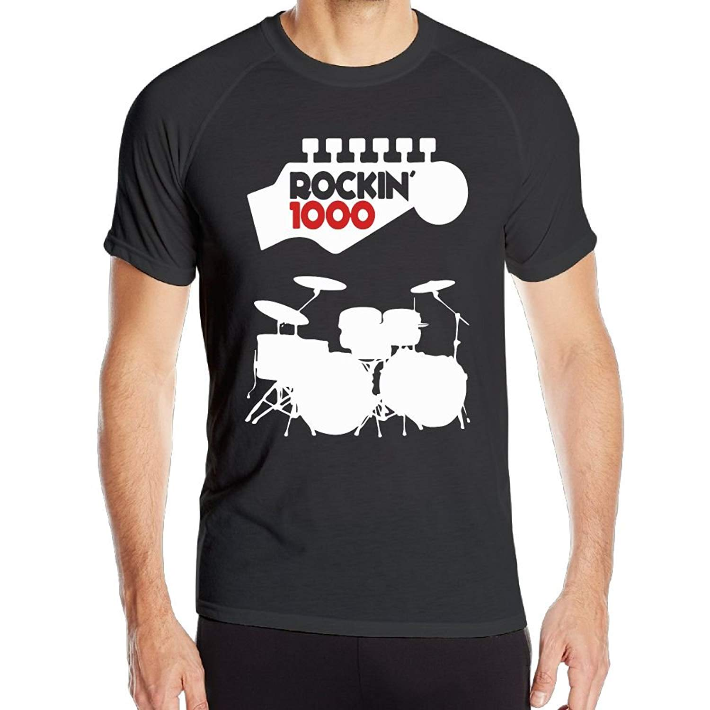 a7567480 Get Quotations · Mens Cooldri Short Sleeve T Shirts Drums Rockin' 1000  Running Baselayer