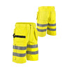 Wholesale working clothes reflective safety hi vis yellow shorts