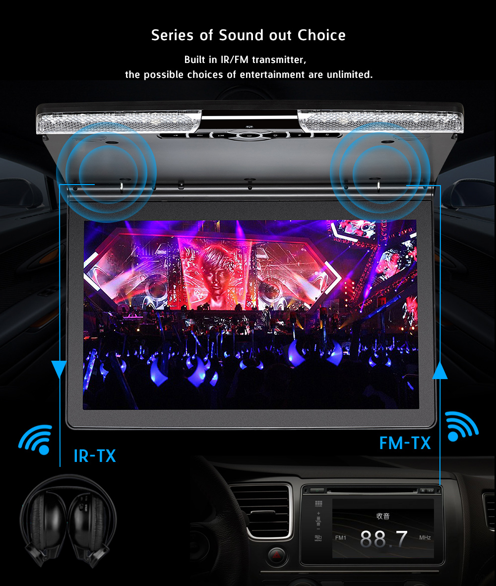 17 inch car roof monitor 19inch 1440p lcd monitor 24v/12v