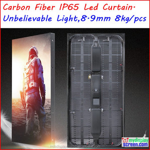 led screen curtain, carbon fiber outdoor rental display, 1000mm*500mm, ultra slim, super light weight, high brightness