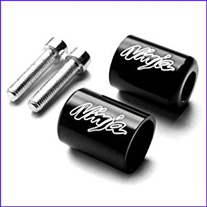 Engraved Bar Ends For Kawasaki NINJA & Sliders 250R 300R ZX2 ZX6 ZX9 ZX10 ZX12 ZX14 Powersports Bar Ends Complete - House Deals