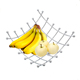 Wholesale kitchen accessories netted design metal wire fruit basket