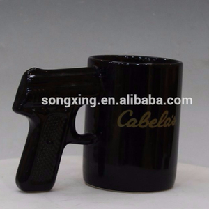 Wholesale Custom Unique Gun Shape Hands Ceramic Mug