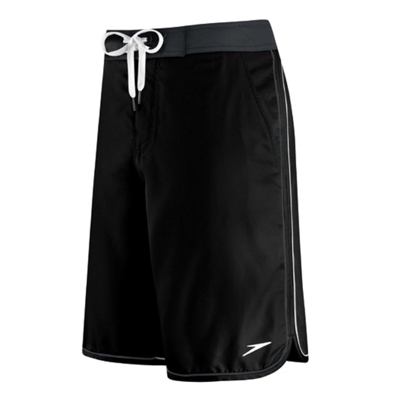Speedo Mens Black Riptide Board Shorts Swim Trunks