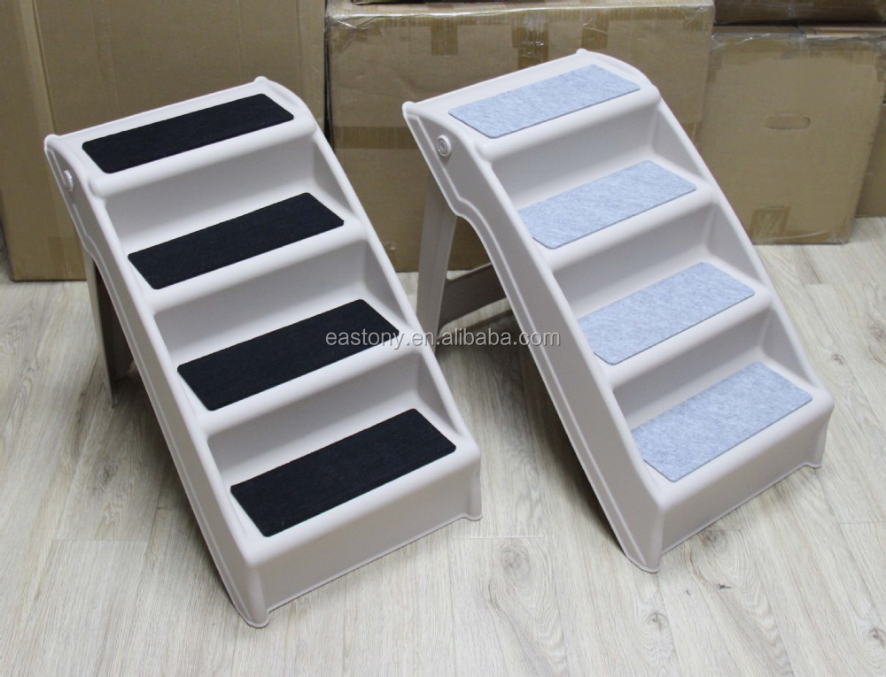 High Quality Eastony Outdoor Indoor Portable Plastic Pet Steps Pet Stairs Plus Dog Steps  Dog Stairs Foldable Easy Store Pet Step Ladder