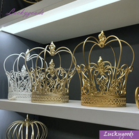 LDJ143-1 wedding favor metal crown 2pcs/set royal crown decoration in three different colors