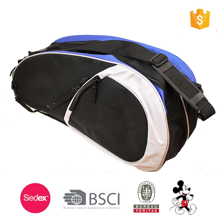 """Deluxe"" 3 Racquet Racquetball Bag Racquetball Club Bag"