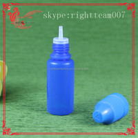 HQ!! 0.5oz empty eliquid dripper bottles plastic with FLAT childproof caps injection blowing bottle
